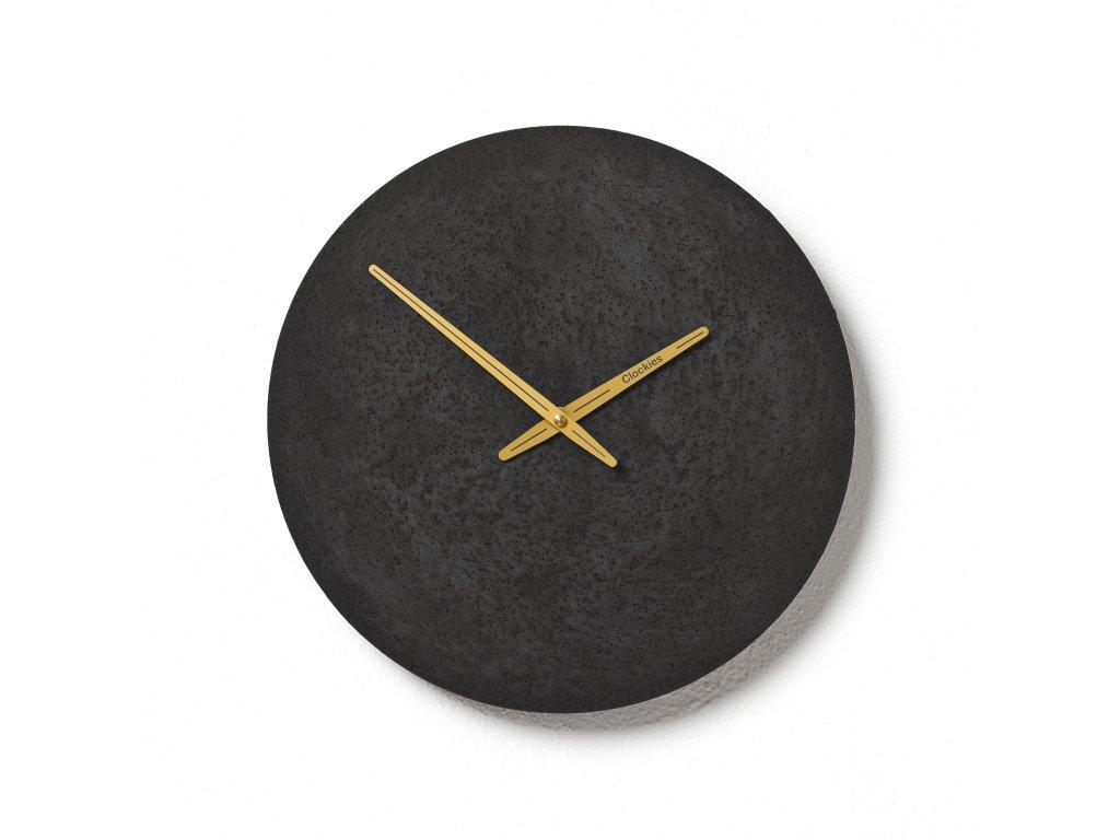 CL300309 Černé hodiny z betonu
