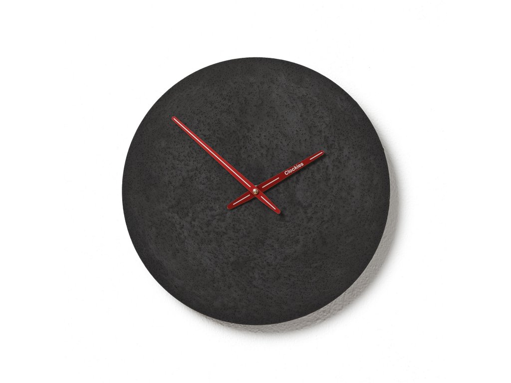 CL300310 Černé hodiny z betonu