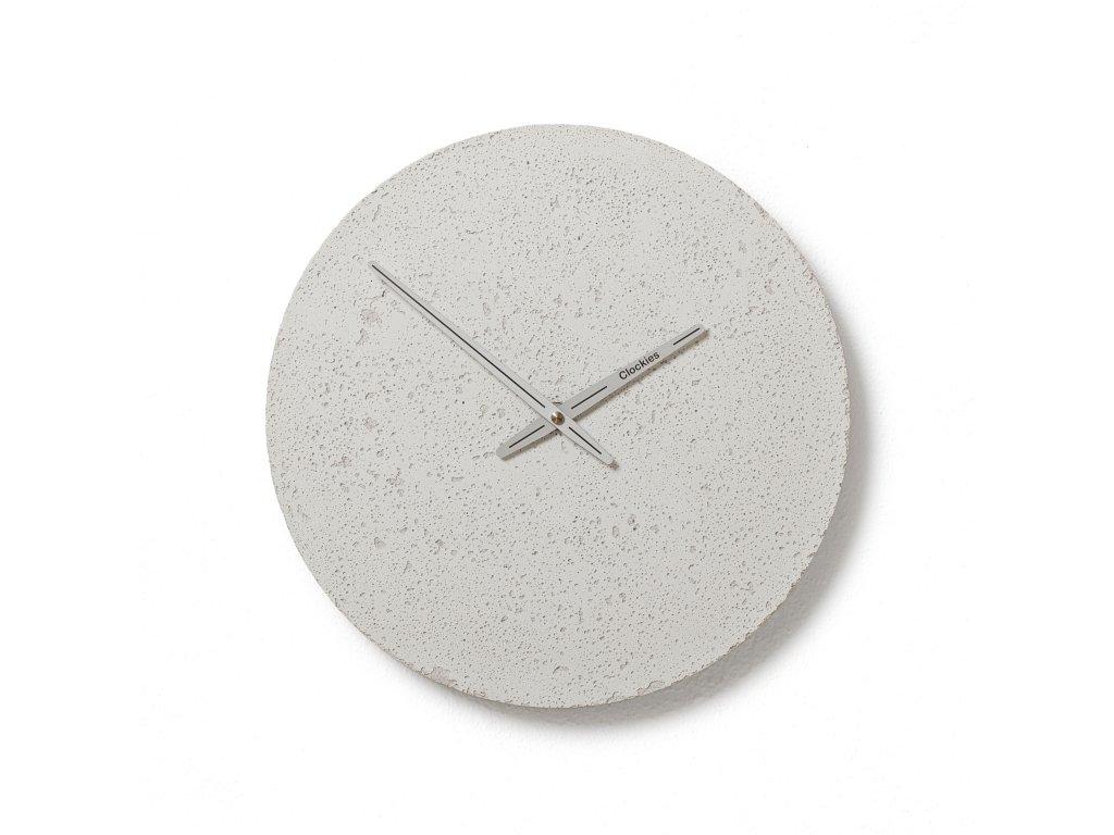CL300408 Bílé hodiny z betonu