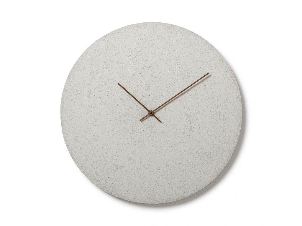CL500402 Bílé nástěnné hodiny
