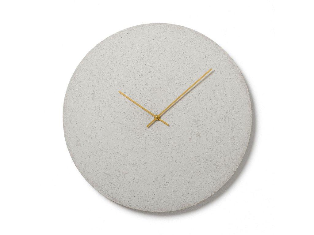 CL500406 Bílé nástěnné hodiny