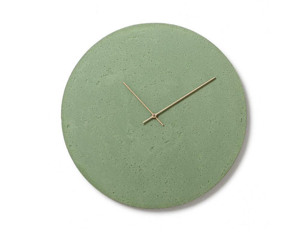 CL500701 Zelené nástěnné hodiny