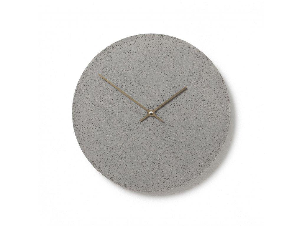 CL300107 Šedé hodiny z betonu