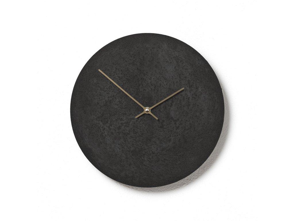 CL300307 Černé hodiny z betonu