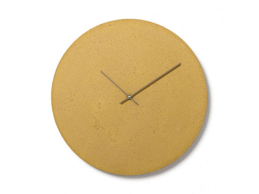 CL500807 Žluté nástěnné hodiny