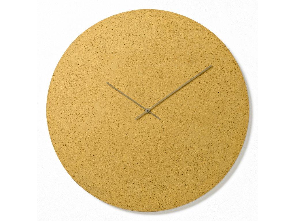 CL700807 Žluté nástěnné hodiny