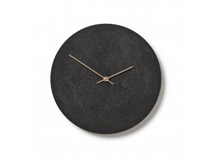 CL300301 Černé hodiny z betonu