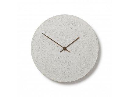 CL300402 Bílé hodiny z betonu