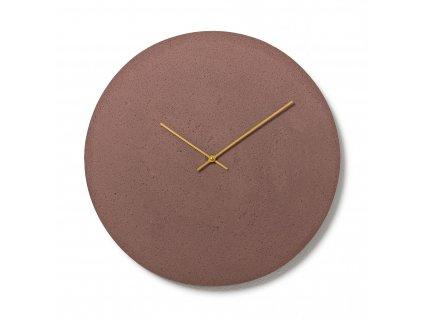 CL500506 Hnědé nástěnné hodiny