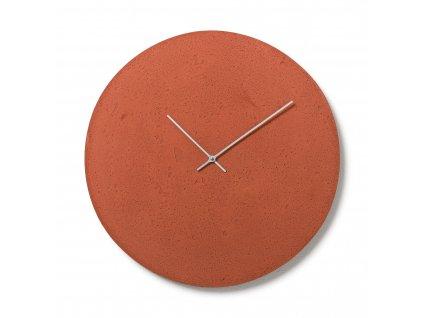 CL500605 Červené nástěnné hodiny
