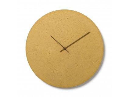 CL500802 Žluté nástěnné hodiny