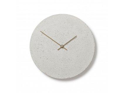CL300407 Bílé hodiny z betonu