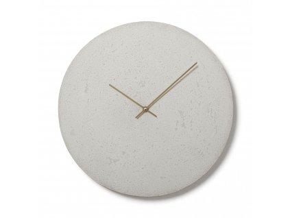 CL500407 Bílé nástěnné hodiny