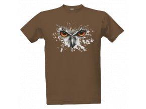 Tričko SOVA - hnědé