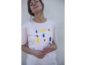 Tričko kávové piktogramy unisex