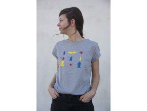 Tričko kávové piktogramy dámské