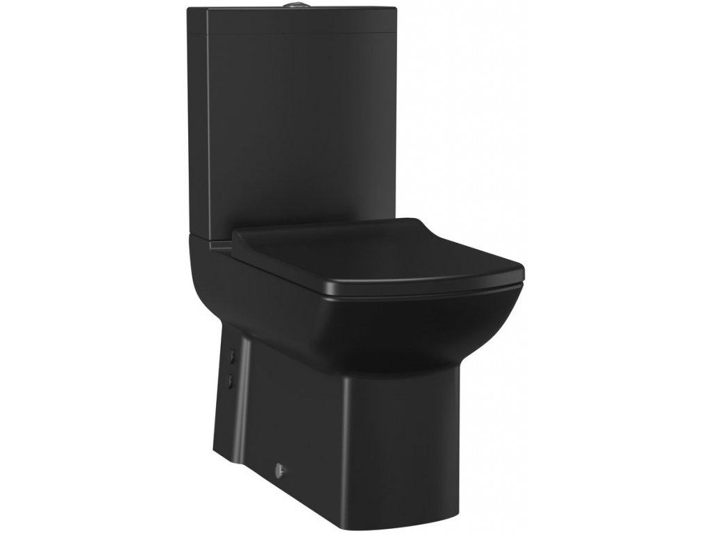 LARA WC sedátko, SLIM, Soft Close, černá mat