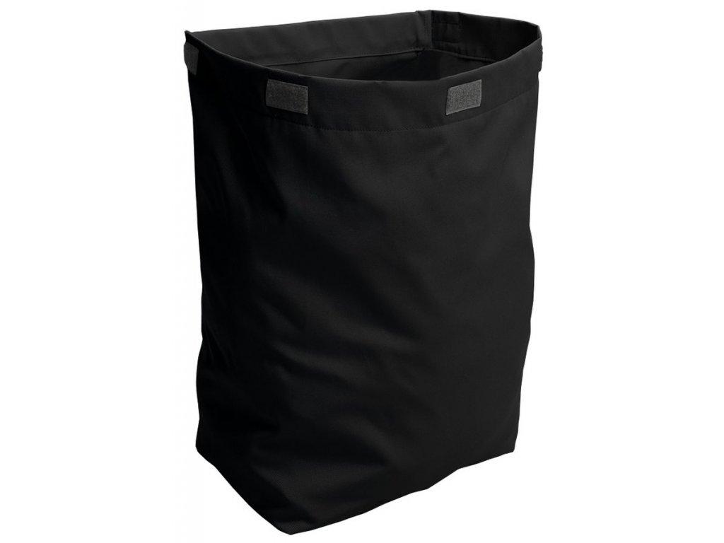Látkový koš na prádlo 310x500x230mm, suchý zip, černá