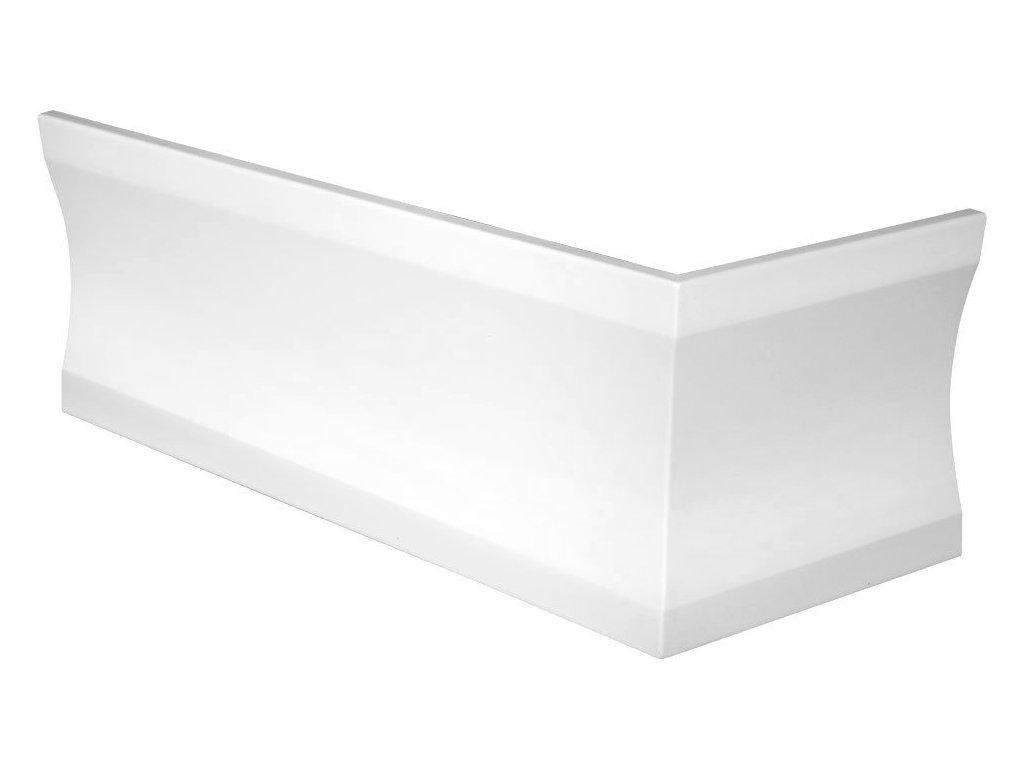CLEO 170x75 UL rohový panel 59cm, bílá
