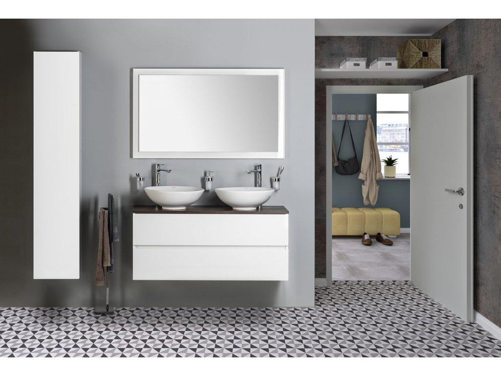 DIMP keramické umyvadlo, průměr 46 cm, na desku, bez přepadu