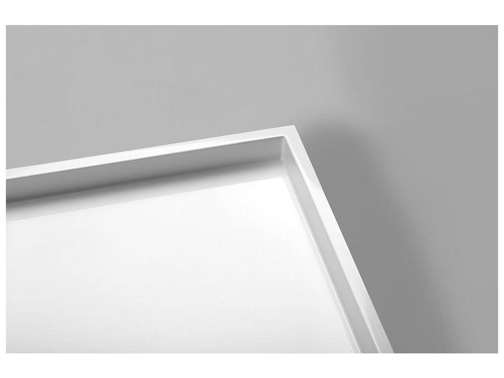 MIRAI sprchová vanička z litého mramoru, obdélník 120x80x1,8cm, pravá, bílá