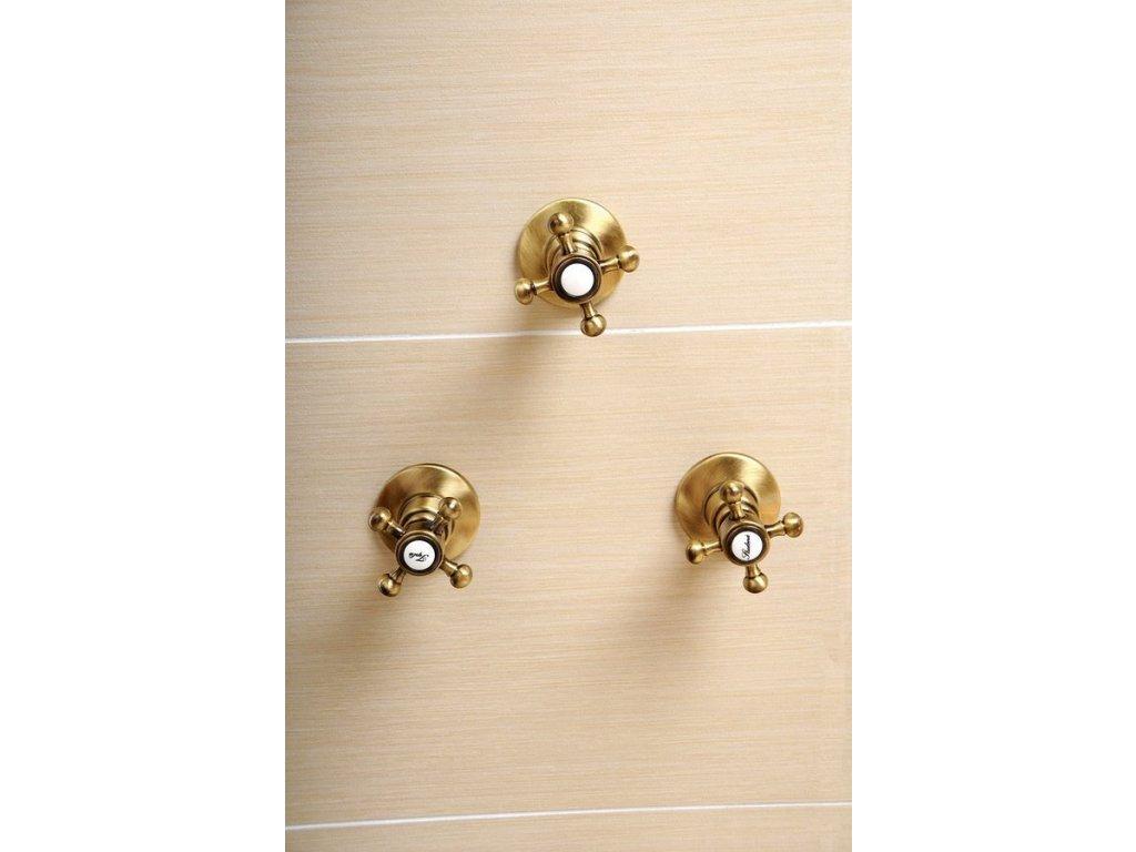 ANTEA podomítkový přepínač, bronz