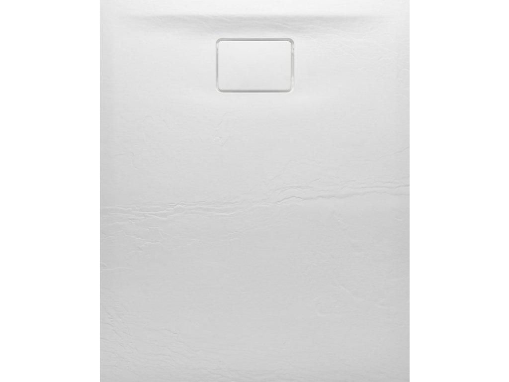 ACORA vanička z litého mramoru, obdélník 120x80x3,5cm, bílá, dekor kámen