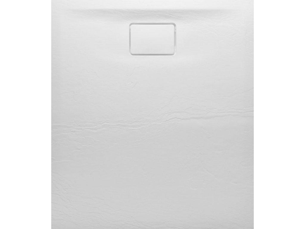 ACORA vanička z litého mramoru, obdélník 120x90x3,5cm, bílá, dekor kámen