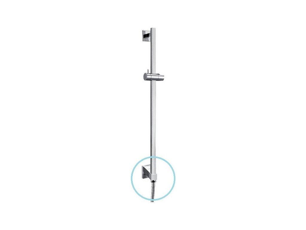Posuvný držák sprchy, vývod vody, 620mm, chrom