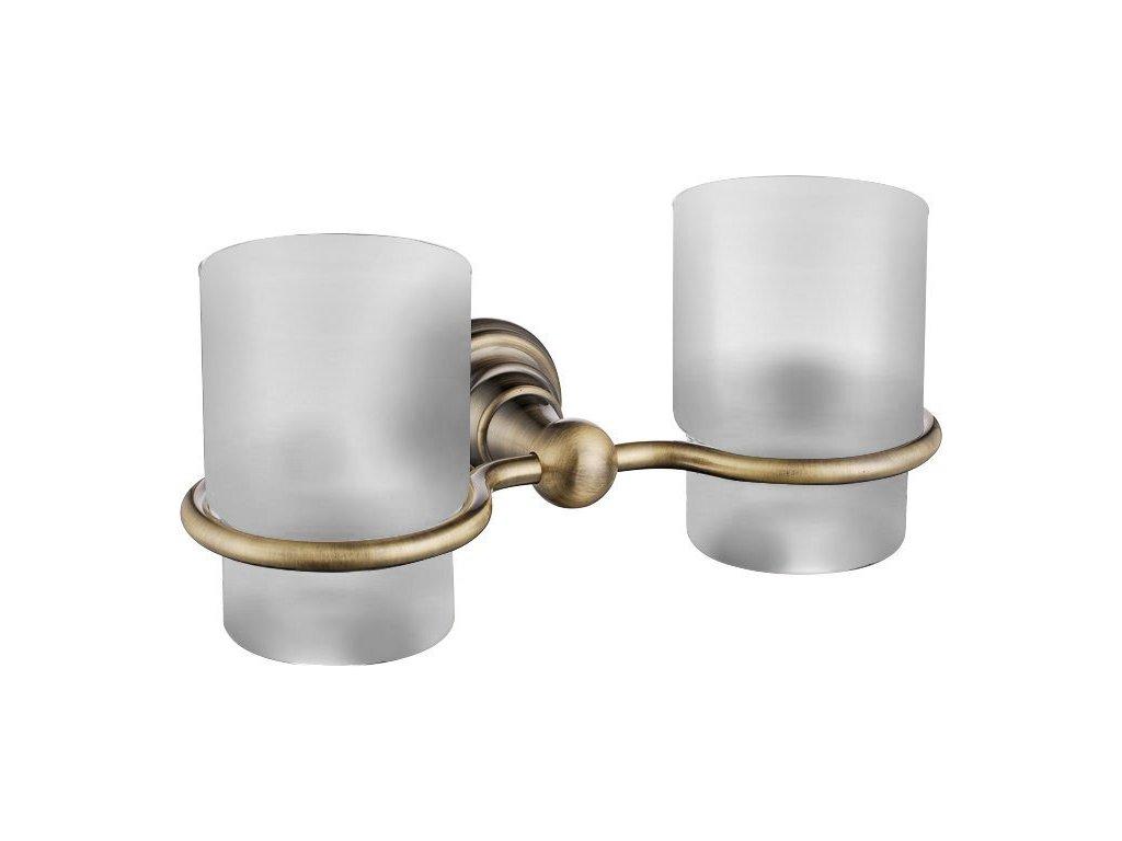DIAMOND dvojitá sklenka, bronz
