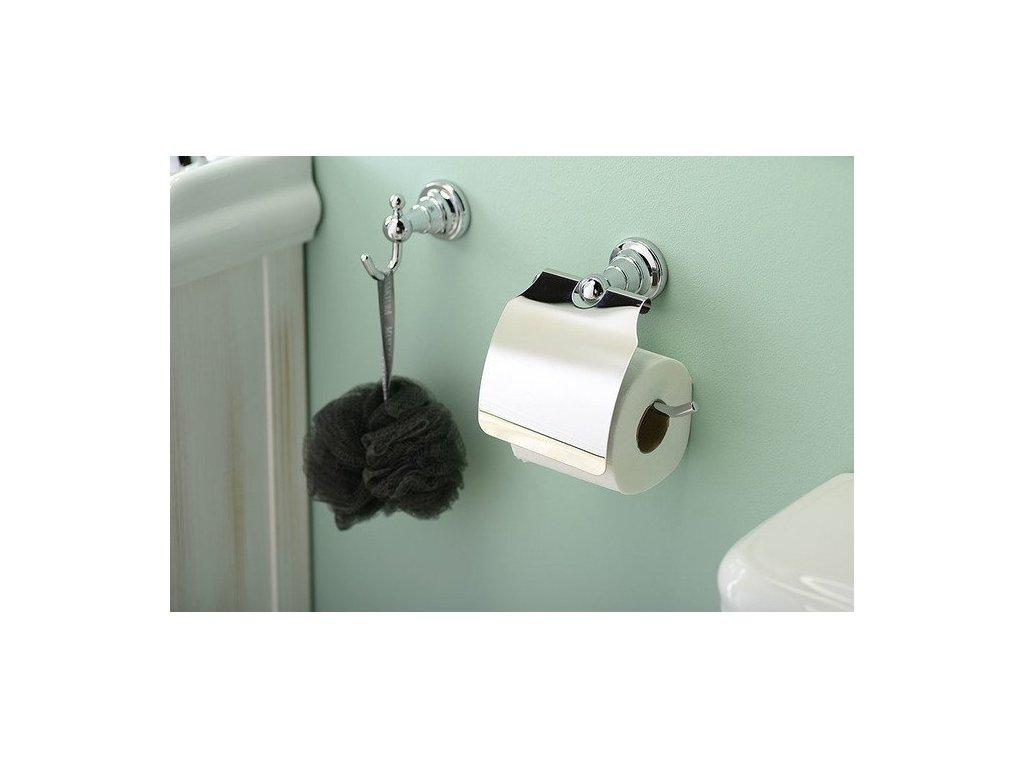 DIAMOND držák toaletního papíru s krytem, chrom