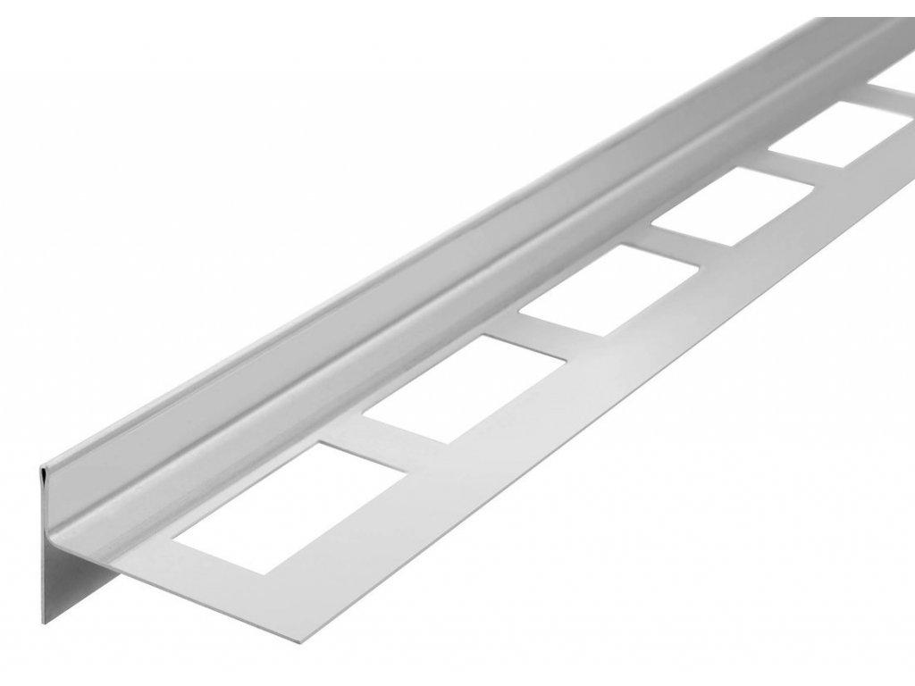 Spádová lišta, levá, výška 10 mm, délka 1000 mm, nerez