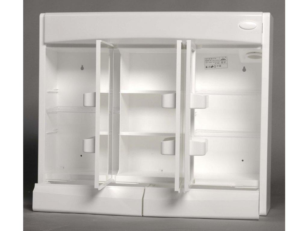 SAPHIR galerka 60x51x18cm, zářivka T8,1x15W, G13, bílá plast