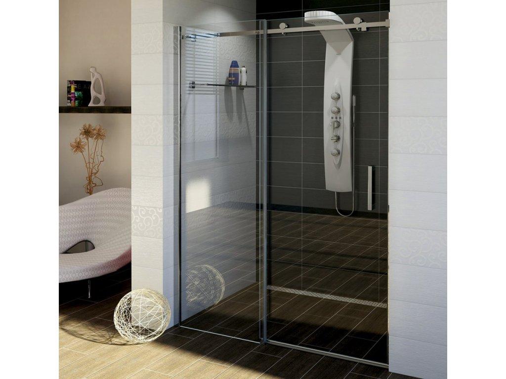 DRAGON sprchové dveře 1300mm, čiré sklo
