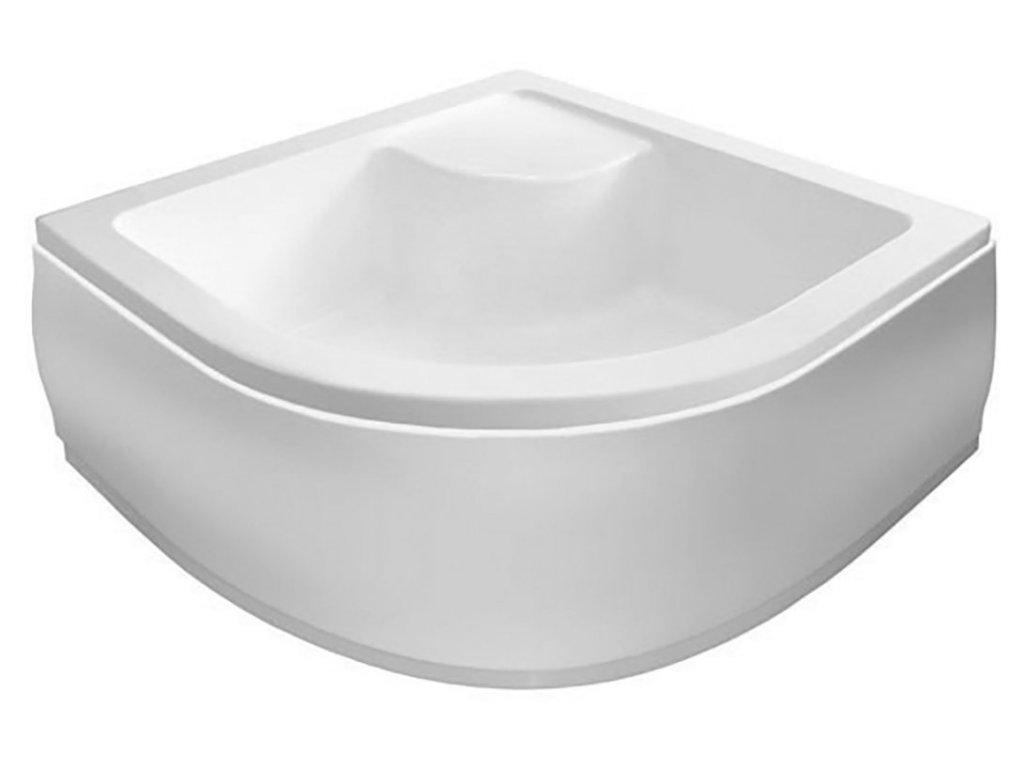 Sprchová vanička akrylátová, čtvrtkruh 80x80x28cm včetně nožiček, R550
