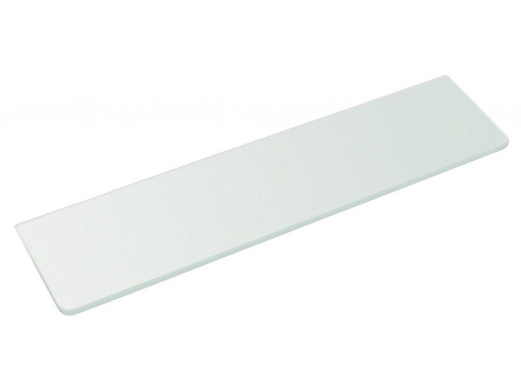 Police 500x100x8mm, mléčné sklo