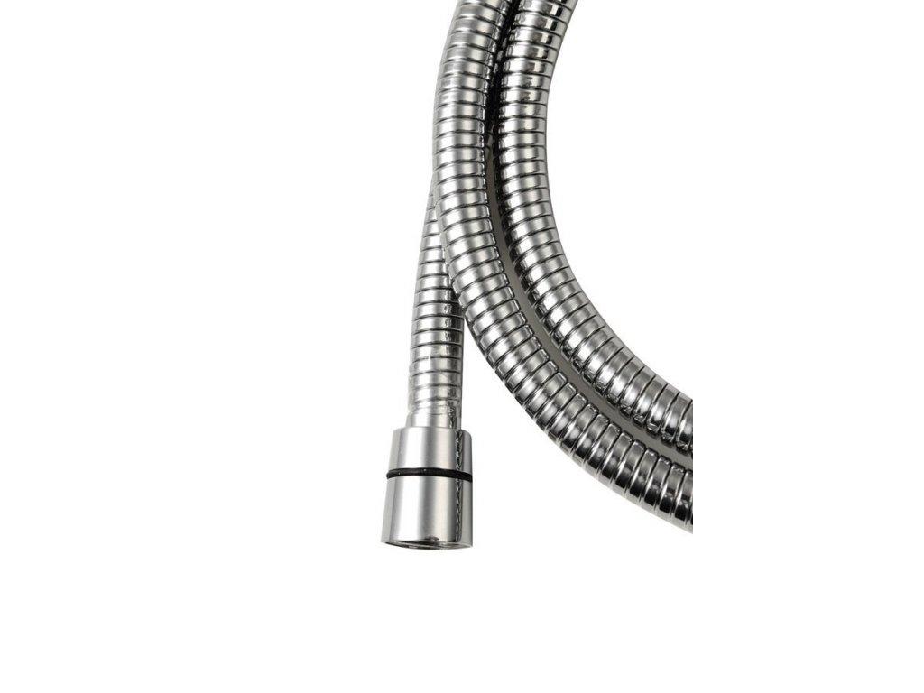 LUX opletená sprchová hadice, roztažitelná 150-180cm, chrom