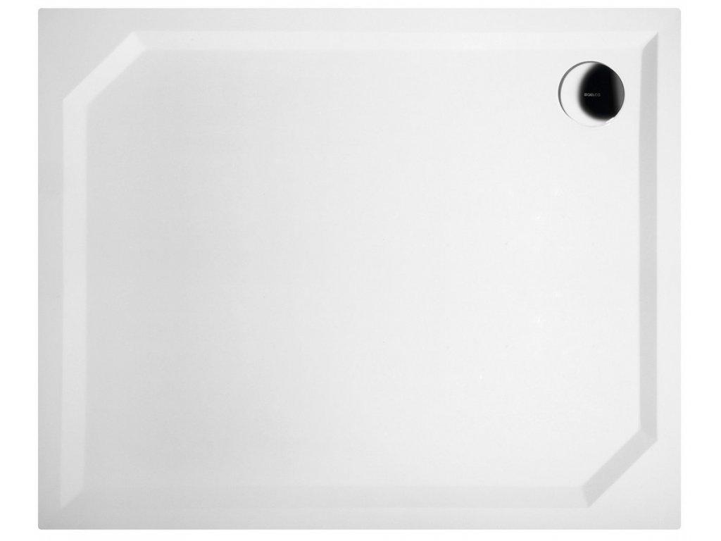 SARA sprchová vanička z litého mramoru, obdélník 110x90x4cm, hladká
