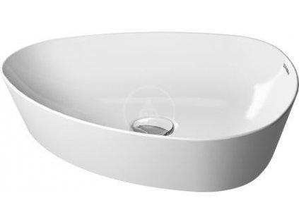 Asymetrická umyvadlová mísa 500x405 mm, DuraCeram, bílá
