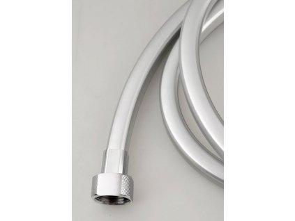 QUADROFLEX hranatá sprchová hadice, 150cm, stříbrná/chrom
