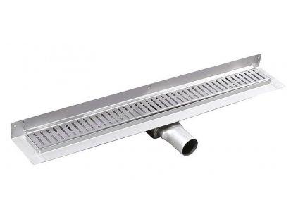 MANUS ONDA nerezový sprchový kanálek s roštem,ke zdi, 850x112x55mm