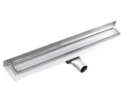 MANUS PIASTRA nerez sprchový kanálek s roštem pro dlažbu, ke zdi, 750x112x55 mm