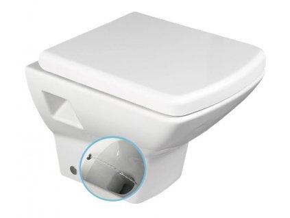 SOLUZIONE závěsná WC mísa s bidet. sprškou, 35x50,5cm, bílá