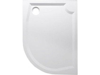 RIVA sprchová vanička z litého mramoru, čtvrtkruh 120x90cm, levá (GR1290L)