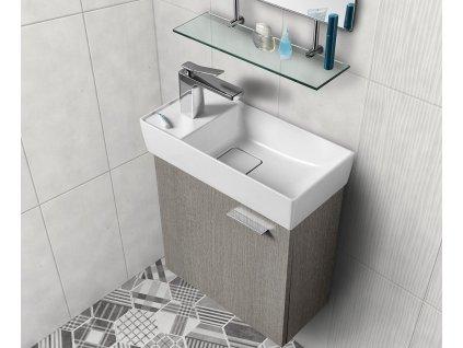 Koupelnový set LATUS IX 44, dub stříbrný