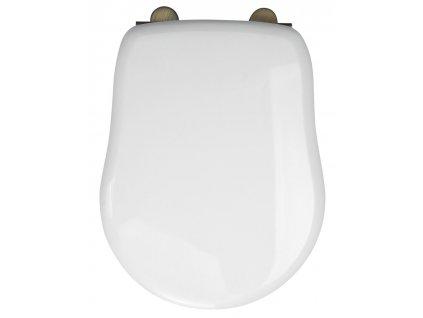 RETRO WC sedátko, polyester, bílá/bronz
