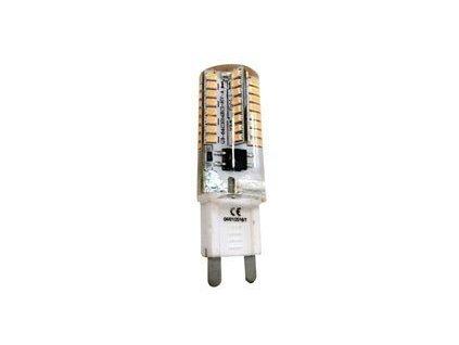 LED žárovka 3W, G9, 230V, teplá bílá, 200lm