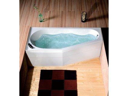 TIGRA L asymetrická vana 170x80x46cm, bílá