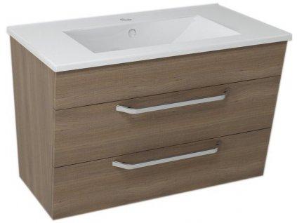 KALI umyvadlová skříňka 74x50x46cm, ořech bruno
