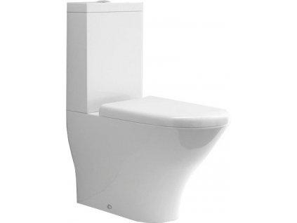 AQUATECH WC kombi, spodní/zadní odpad, bílá